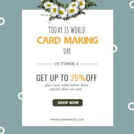 Online Editable World Card Making Day Promotional Social Media Post