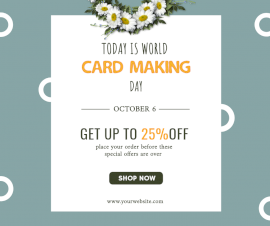 Online Editable Today is World Card Making Day Facebook Post