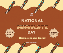 Online Editable National Chocolate Day Facebook Post