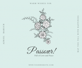 Online Editable Wishes for Passover Facebook Post