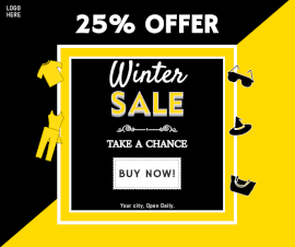 Online Editable Winter Sale Offers Facebook Post