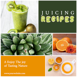 Online Editable Juicing Recipes 4 Grid Photo Collage