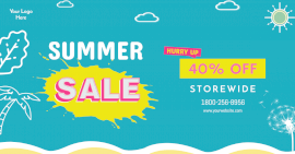 Online Editable Summer Sale Social Media Post