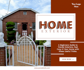 Online Editable Home Exterior Facebook Post