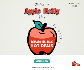 Online Editable National Apple Betty Day October 4 Facebook Post