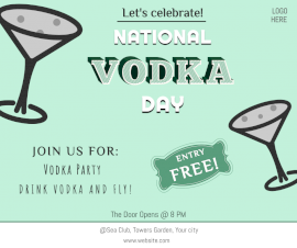 Online Editable National Vodka Day Party Invite Facebook Post
