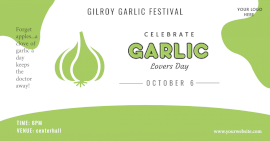 Online Editable Gilroy Garlic Lovers Day Festival Facebook Ad Post