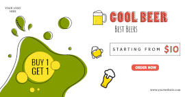 Online Editable cool Beer Promotion Facebook Ad post