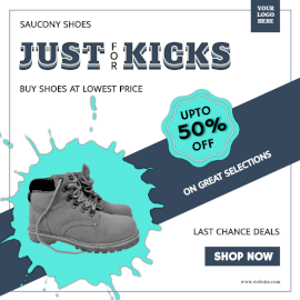 Online Editable Special Offers On Shoes Social Media Post