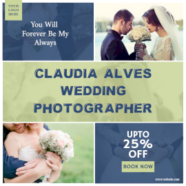 Online Editable Wedding Photographer Quotes 2 Grid Photo Collage