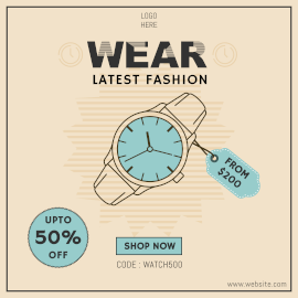Online Editable Latest Watch Sale Instagram Ad