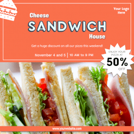 Online Editable Offers on Sandwich Social Media Post