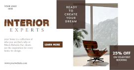 Online Editable Interior Design Offer Promotion Facebook Ad post