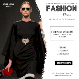 Online Editable Fashion Show Event Social Media Post