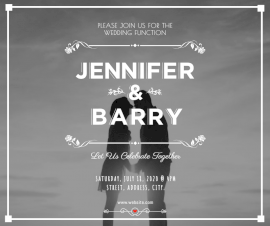 Online Editable Jennifer and Barry Wedding Invitation Facebook Post