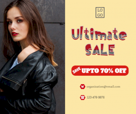 Online Editable Ultimate Women Clothes Sale Design Facebook Post
