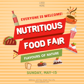 Online Editable Nutritious Food Fair Instagram Ad