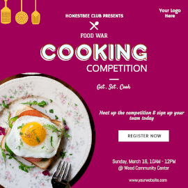 Online Editable Cooking Competition Instagram Ad