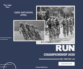 Online Editable Bicycle Championship Ad Facebook Post