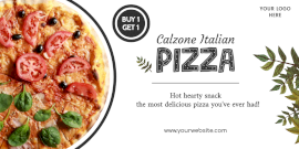 Online Editable Calzone Pizza Special Offer Twitter Post