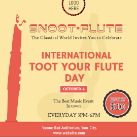 International Toot Your Flute Day - Instagram Ad