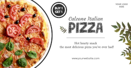 Online Editable Calzone Pizza Special Offer Facebook Ad Post