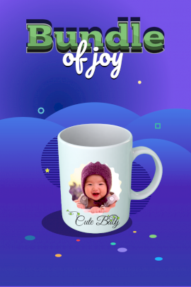 Online Editable Blue Bundle of Joy Photo Mockup