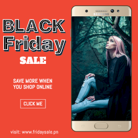 Online Editable Red Black Friday Sale Photo Mockup