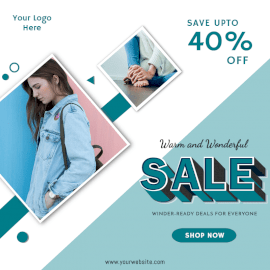 Online Editable Sale Offers Social Media Post