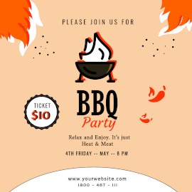 Online Editable BBQ Party Instagram Ad