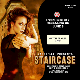 Online Editable Movie Screening Poster Instagram Ad