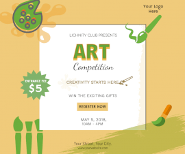 Online Editable Art Competition Poster Facebook Post