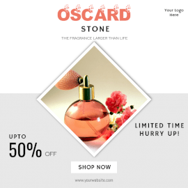 Online Editable Perfume Promotion Offers Social Media Post