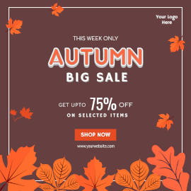 Online Editable Autumn Sale Instagram Ad