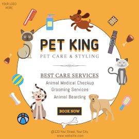 Online Editable Pet Care Promotion Instagram Ad