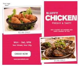 Online Editable Bluffy Chicken Outlet Promotion Facebook Post