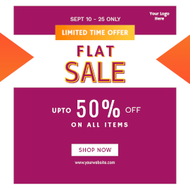 Online Editable Flat Sale Offers Instagram Ad