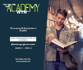 Online Editable Win Academy Promotion Facebook Post