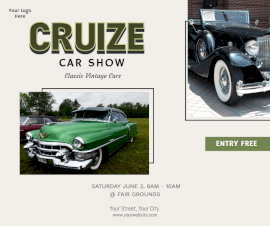 Online Editable Car Show Facebook Post