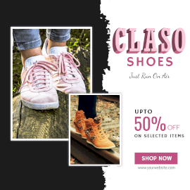 Online Editable Special Offers On Claso Shoes Instagram Ad