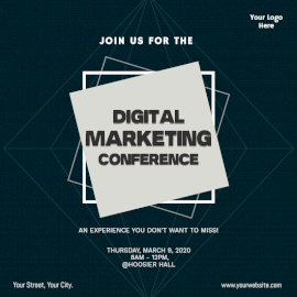 Online Editable Digital Marketing Conference Social Media Post