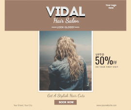 Online Editable Special Deals On Hair Styling Facebook Post