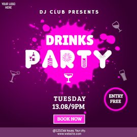 Drinks party -  Instagram Ad
