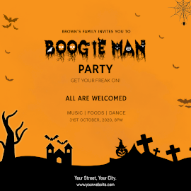 Boogie Man Party-  Instagram Ad