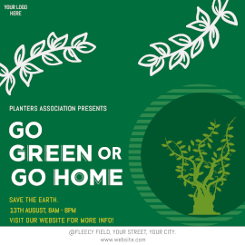 Go Green - Instagram Ad