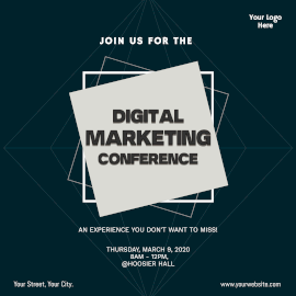 Online Editable Digital Marketing Conference Instagram Ad