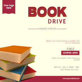 Book Drive - Instagram Ad