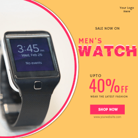 Online Editable Special Offers on Watch Instagram Ad