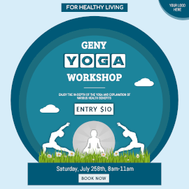 Online Editable Geny Yoga Workshop Instagram Ad