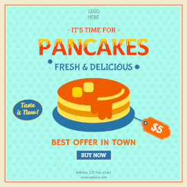 Online Editable Delicious Pancake Offers Instagram Ad